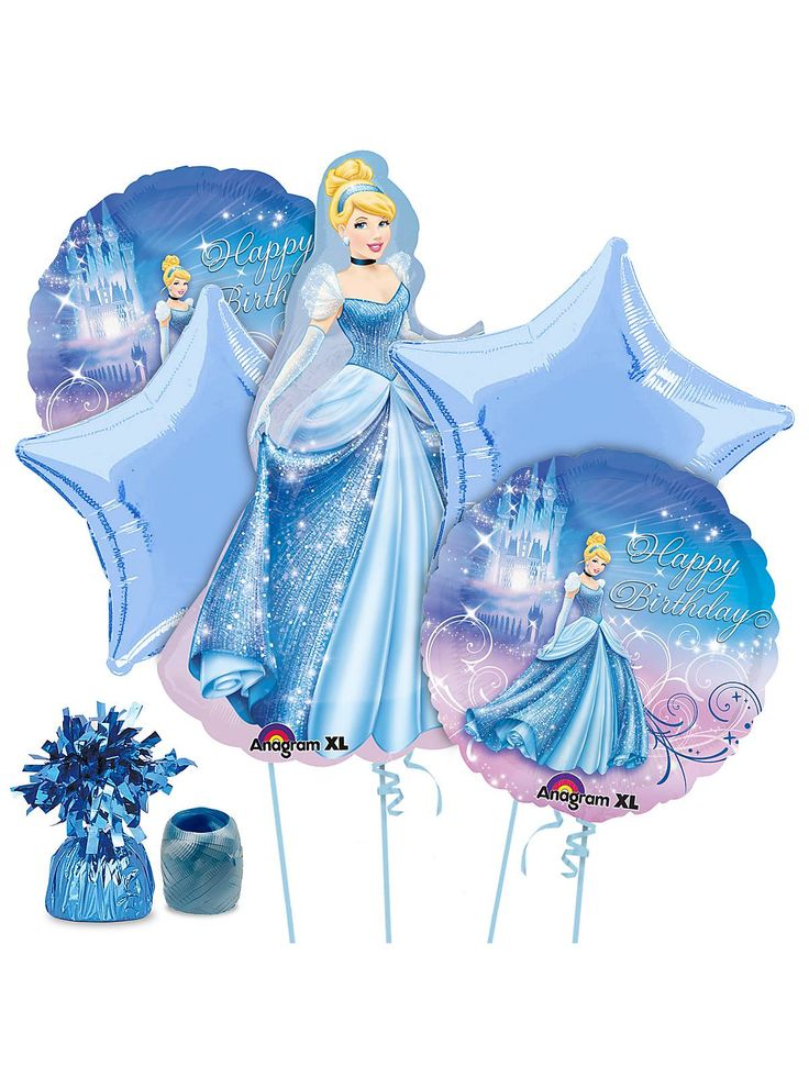 What's a Cinderella birthday party without balloons, and these are perfect! Don't you agree? See more Disney Princess party supplies at www.BirthdayinaBox.com!
