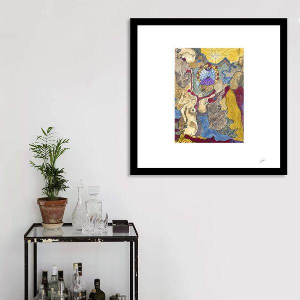 Découvrez «Symbolic Circus Enluminure originale», Édition Limitée Affiches d'art par David Damour - À partir de 27€ - Curioos