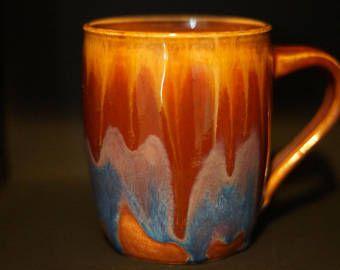 Coffee Mug - Tea cup - Hand Thrown Ceramic Mug - Rainbow -  multicoloured - Stoneware Mug - Wheel Thrown - Handmade Mug - Pottery Mug