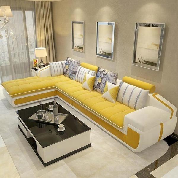 Modern L Shaped Corner Living Room Furniture Living Room Sofa