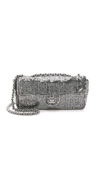 What Goes Around Comes Around Chanel Sequin Half Flap Bag (Previously Owned)