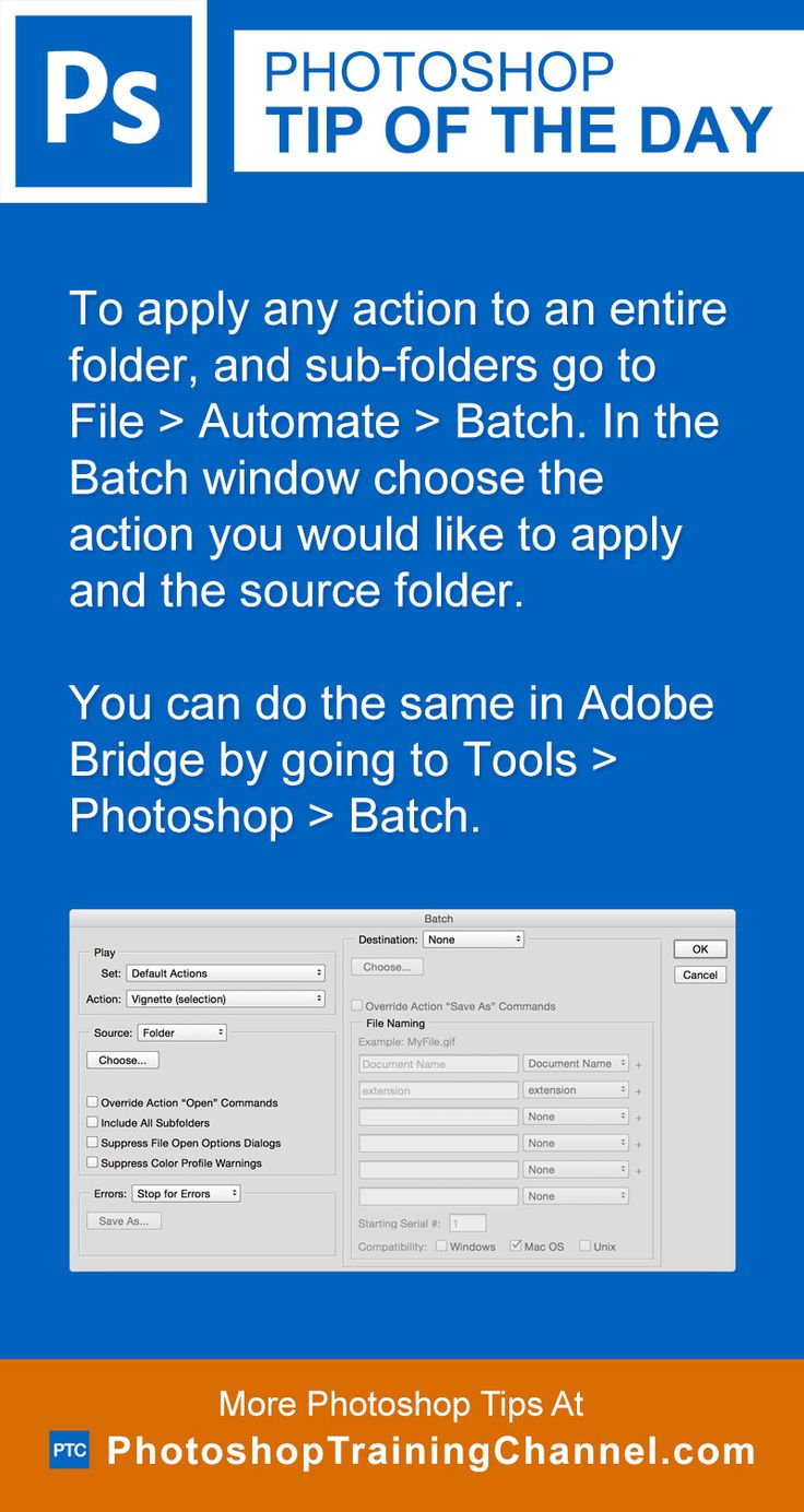 How to Batch Process Actions in Photoshop CS6 - dummies