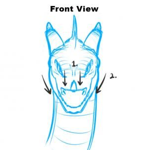 how to draw dragon heads step 1