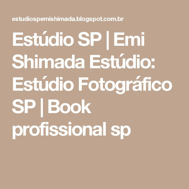 Estúdio SP   Emi Shimada Estúdio: Estúdio Fotográfico SP   Book profissional sp