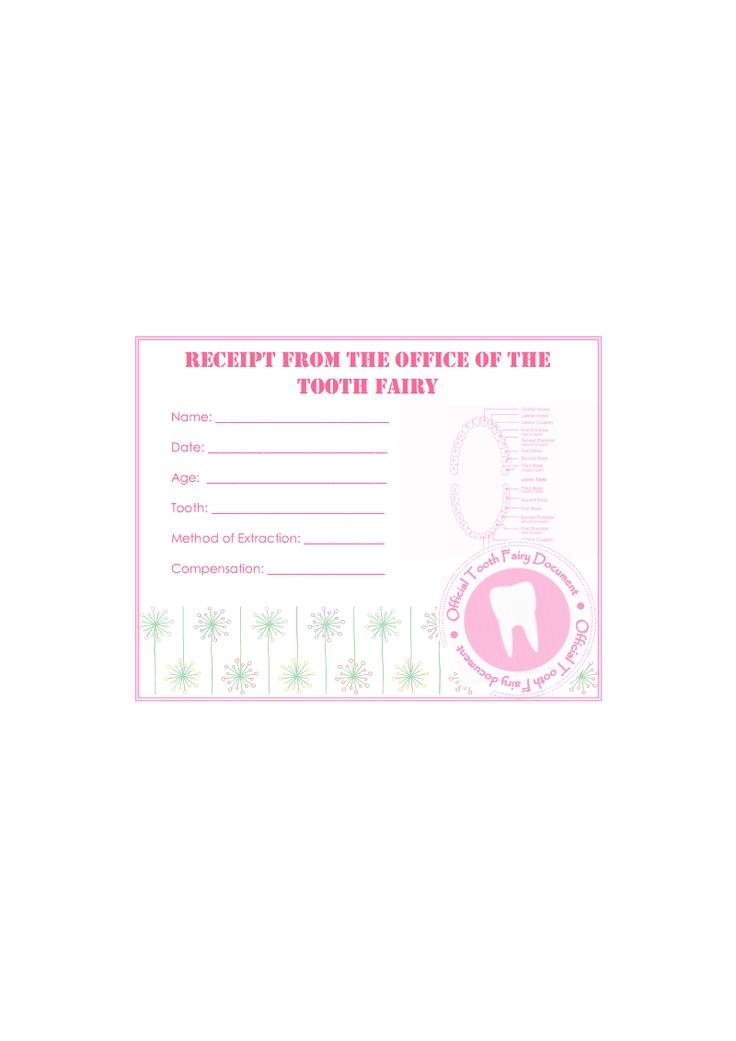 17 besten tooth fairy notes Bilder auf Pinterest | Frei bedruckbar ...