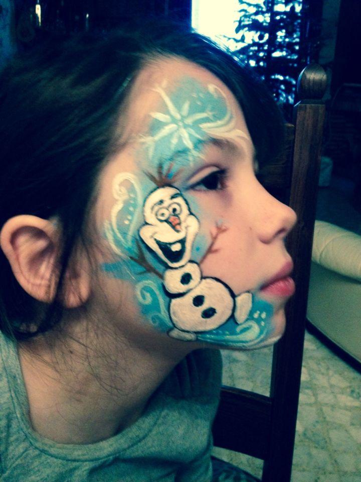 Grimage-maquillage d'olaf Reine des neiges ❄️⛄️