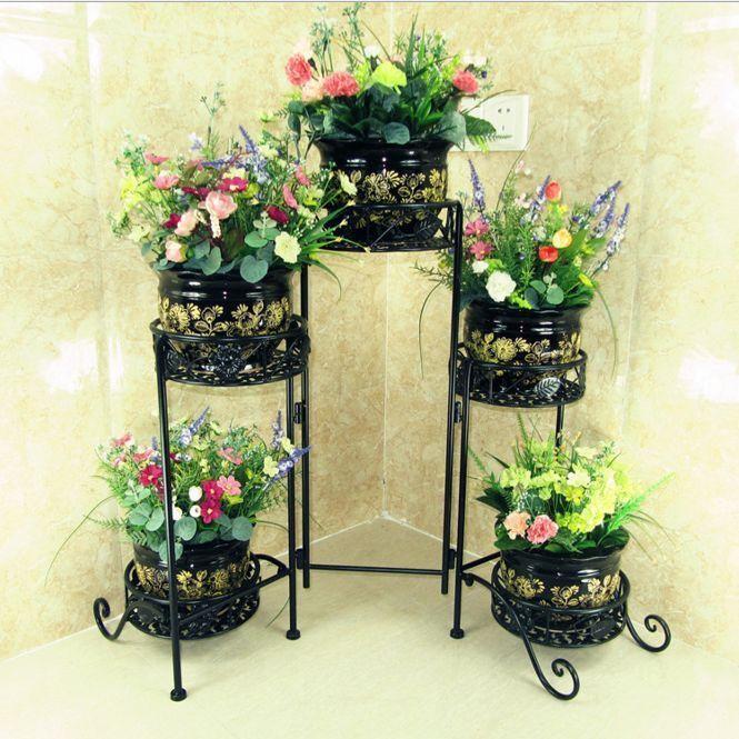 Metal Pot Plant Stand 5 Tier Planter Shelves Home Garden Wedding Gift Decor in Home & Garden,Wedding Supplies,Decorations | eBay