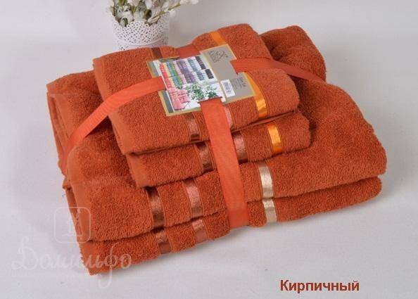 Набор полотенец BALE кирпичный от Karna (Турция) - купить по низкой цене в интернет магазине Домильфо