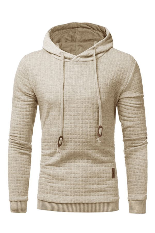 Plain Jacquard Casual Pullover Men s Hoodie mens fashion winter  Hoodie 34bd563de9a2