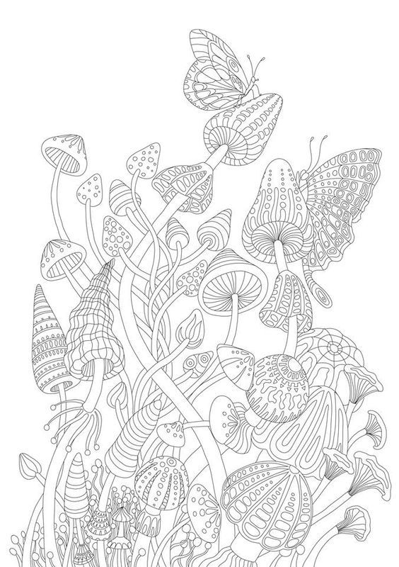 186 best coloring garden images on Pinterest | Adult ...