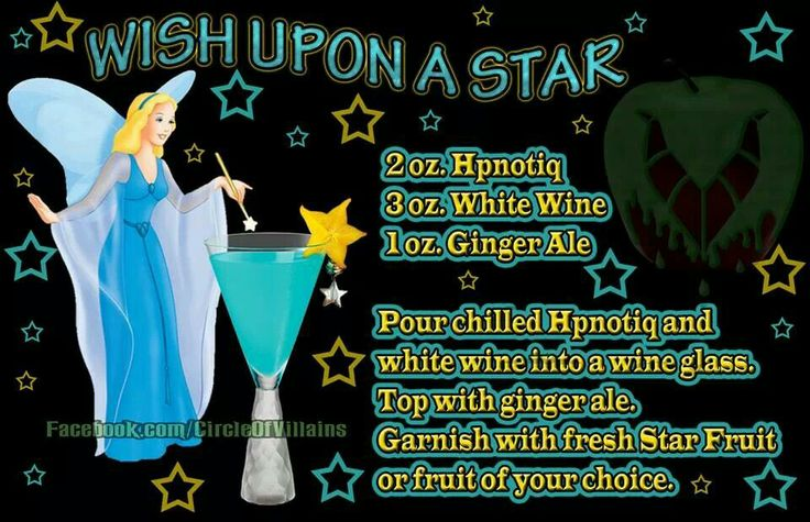 Wish upon a star. Disney theme drinks