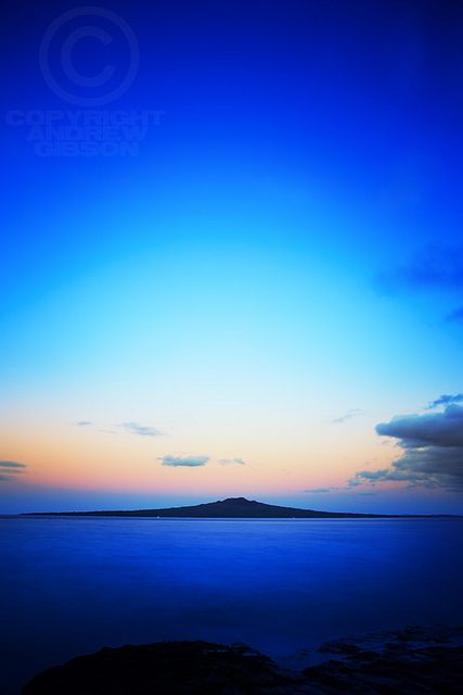 de-preciated:  Rangitoto blue hour by Andrew S. Gibson on Flickr.
