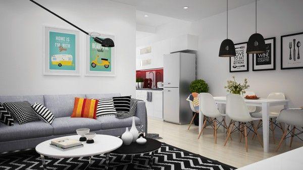 Apartamento Escandinavo com Decoração Jovial