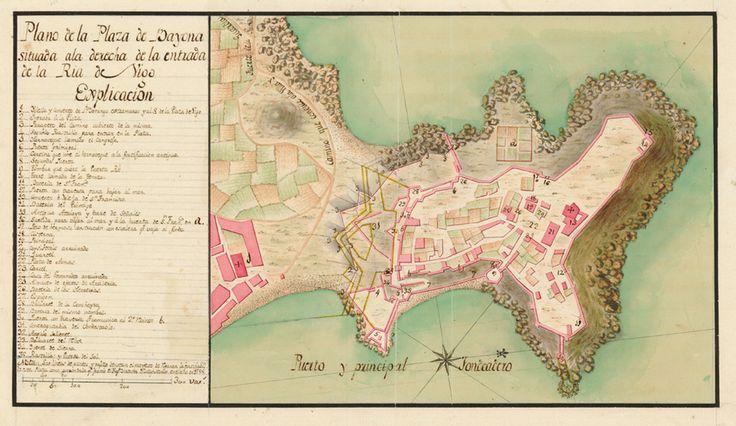 Bayona (Galicia) Fortificaciones hacia 1800