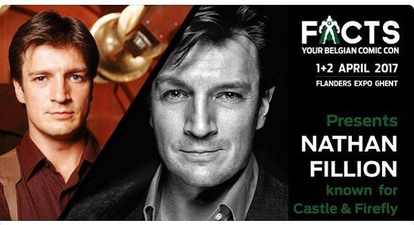 Nathan Fillion is coming to FACTS!!! Were you already planning on coming or will you now? #nathanfillion #castle #serenity #firefly #slither #guardiansofthegalaxy #santaclaritadiet #facts #factsconvention #gent #comicconrotterdam #comicconbrussels #josswhedon