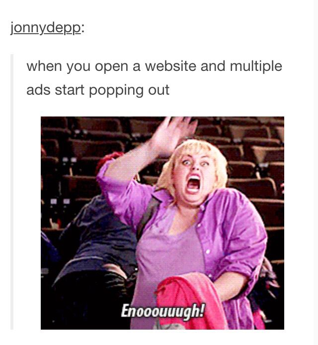 I close the tab immediately and NEVER RETURN. I may even block the URL.