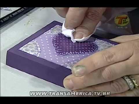 Tv Transamérica - Artesanato: Caixa em relevo