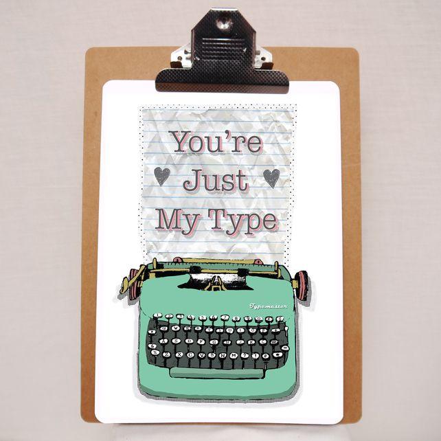Typewriter A4 print £12.50