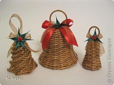 paper weaved bells