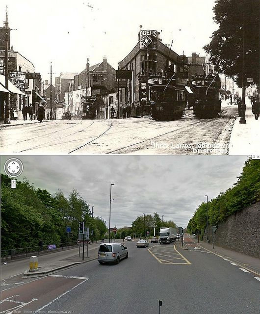 Bristol Then & Now - Three Lamps Junction, Totterdown | by brizzle born and bred