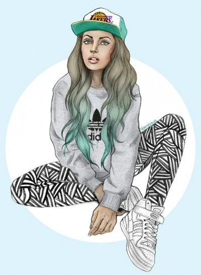 Hipster girl drawing | Art | Pinterest | Hipster Girl ...