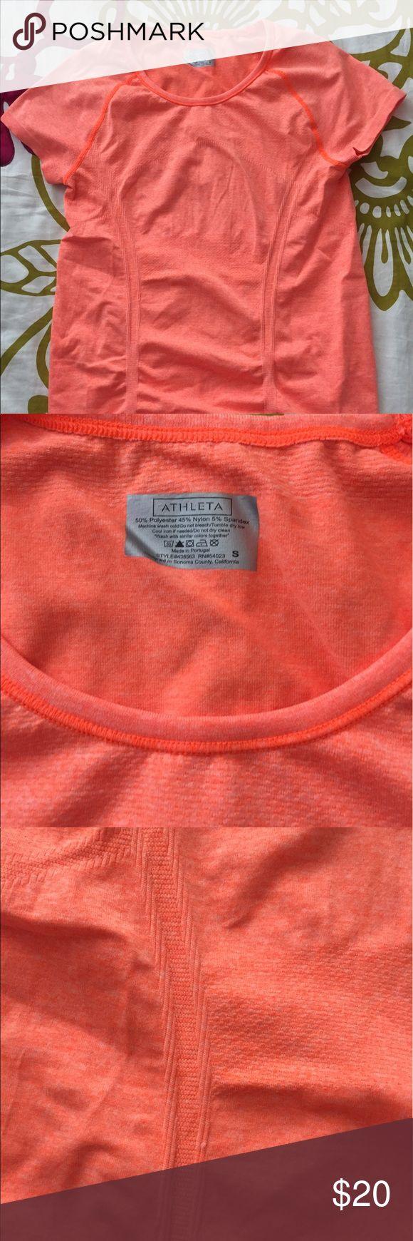 Athleta Orange Short Sleeve Athleta Orange short sleeve top, worn once and in perfect condition! Athleta Other
