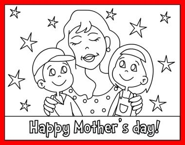 Free Printable Happy Mothers Day Coloring Page and Mother's Day Song For Kids!