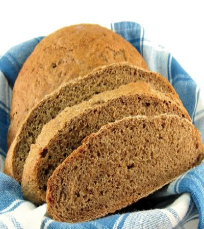 From the kitchen of One Perfect Bite... This is a European peasant bread that gets its color from the ingredients used to make it. Black...