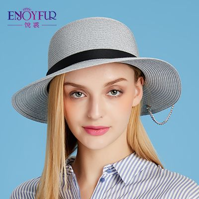 Women sun hat for Summer large brim straw hats with Metal star accessories sunscreen vacation outdoor classical female caps Like and share! Visit us