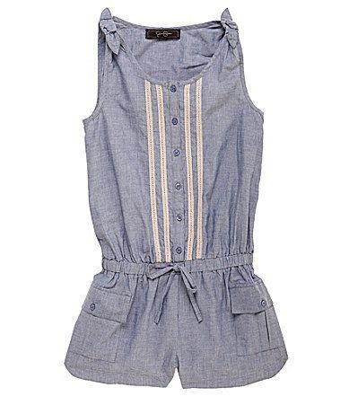 Jessica Simpson Tweenwear 716 Chambray Romper #Dillards