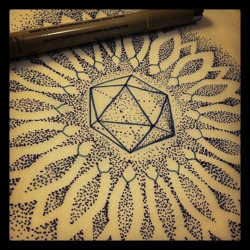 Dillon Forte, sacred geometry tattoo.  dillonfortetattoo.com