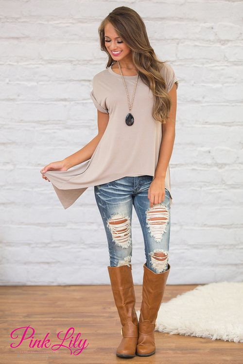 This gorgeous asymmetrical top will be your next fall favorite - it's such a unique blouse!