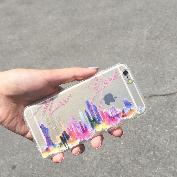 Clear TPU Case Cover - Watercolor New York – Milkyway