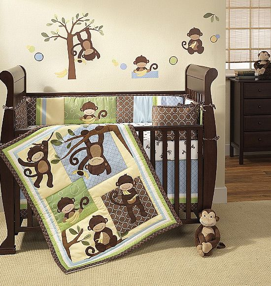 Modern Baby Crib Bedding Sets I M Digging Monkey Prints