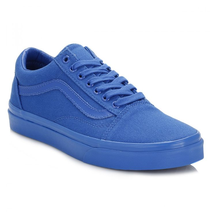 Buy blue (nautical blue) vans nautical blue old skool trainers. vans unisex  trainers at TOWER London - mens, womens and kids branded footwear.