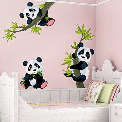 Awesome Kinderzimmer Motto Panda Wandtattoo Pandab ren Set Wandtatoo Wandsticker Kinderzimmer B r Illustration Gr e