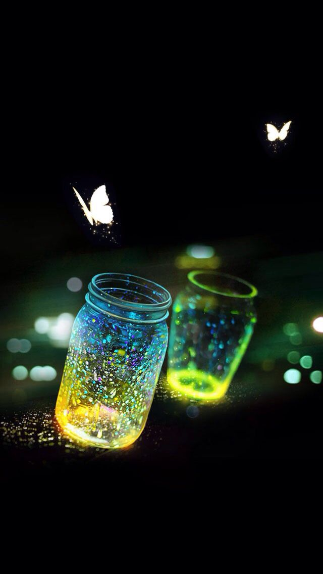 Cute Pink Cell Phone Wallpaper Glowing Butterflies Wallpapers For My Phone Pinterest