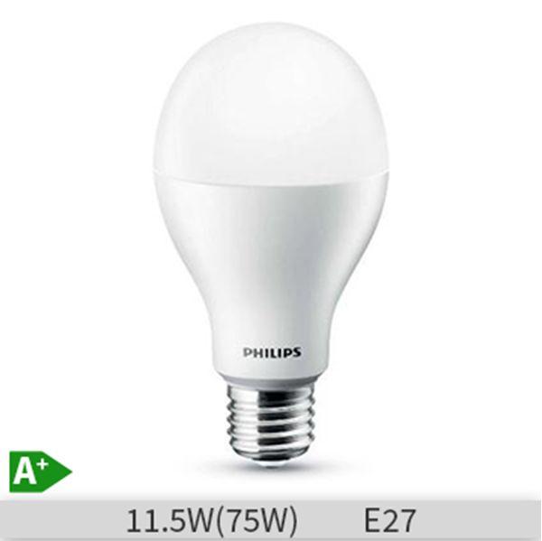 Bec LED Philips CoreLED, forma clasica, 11.5W, E27, 15000 ore, lumina calda http://www.etbm.ro/tag/148/becuri-led-e27