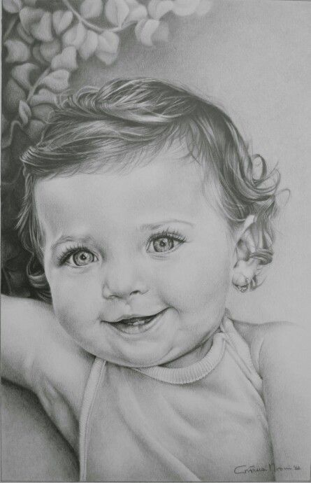 Portrait, chiaroscuro, pencils on paper. www.facebook.com/limaelabor #draw #drawing #pencils #art #chiaroscuro #portrait #baby #eyes