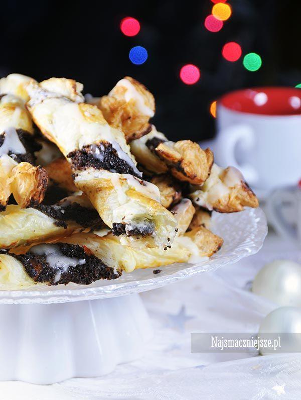 Ciastka francuskie z makiem #ciastka #francuskie #mak #najsmaczniejsze #przekąska #food