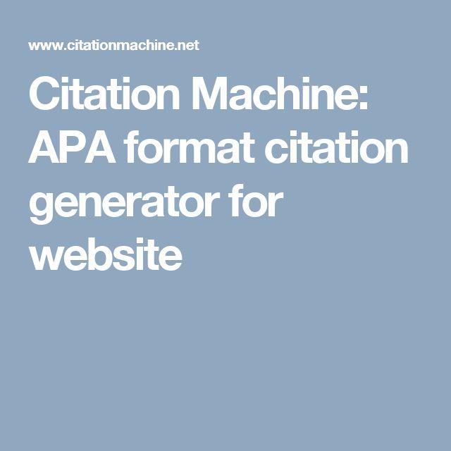 citation machine movie