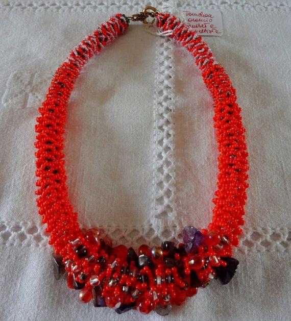 collana GIROCOLLO fatta a mano modello a di Carlacollanebijoux, €50.00 - fantastica collana realizzata da mia sorella Teresa.