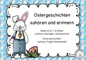 Ostern: Hör- und Sprechaufgaben