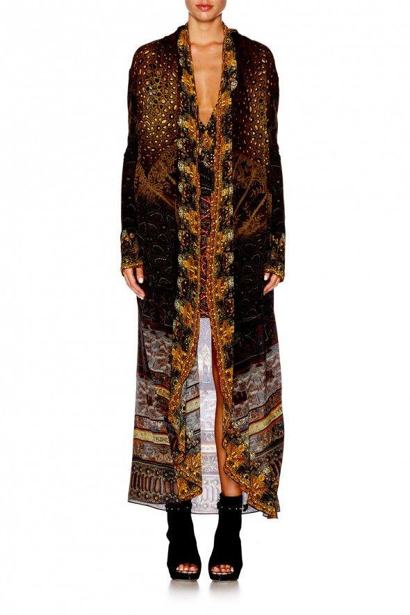 Camilla - Ancient Eyes / Long Casual Jacket With Pockets