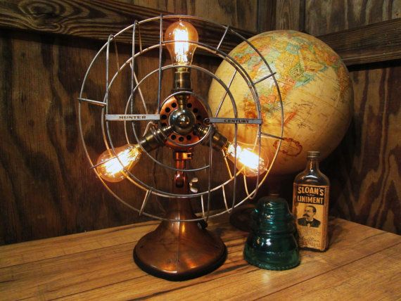 Hunter Century Table Top Fans : Best images about vintage industrial lighting on