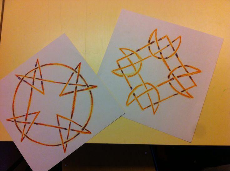 Vormtekeningen voor klas 4, Vormtekenles, Hoofdfase A, eigenaren  Form Drawing Waldorf Steiner grade 4