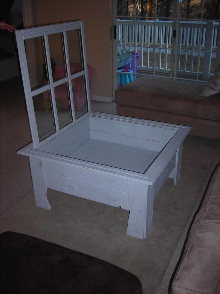17 best images about diy doors shutters windows on for Shadow box coffee table diy