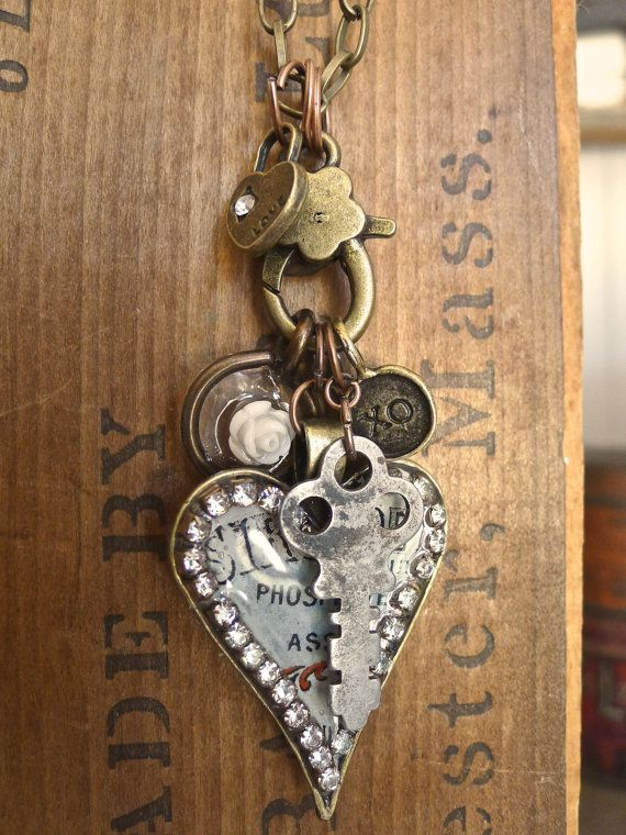 Keys and Hearts Vintage 40s French Pharmacy by selinavaughan