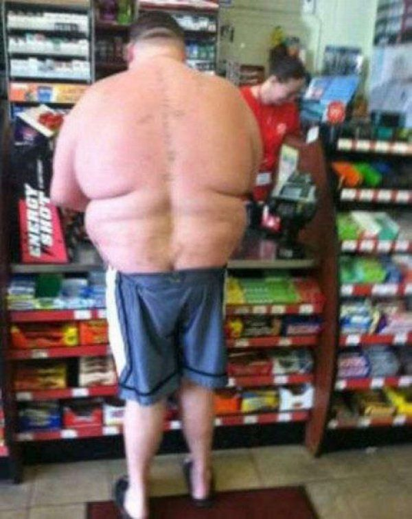Well, This Man Has an Interesting Body Shape waahh??