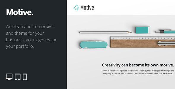 Motive: Customizable WordPress Portfolio Theme